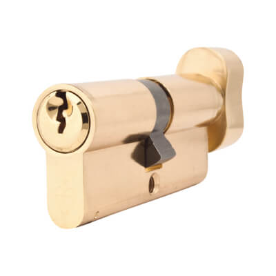 Yale® 1 Star Kitemarked Cylinder Lock - Euro Double & Thumbturn - 35[k]* + 35mm - Polished Bras