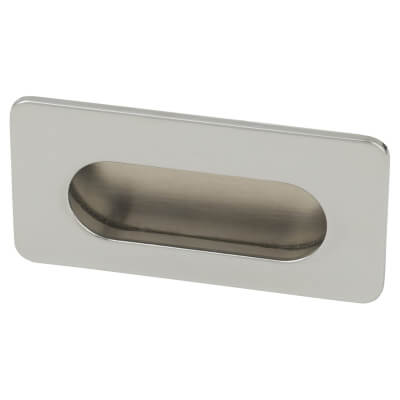 Touchpoint Flush Cabinet Pull - 38 x 72mm - Polished Chrome)
