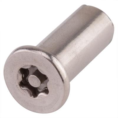 Hafren 6-Lobe Barrel Nuts - M10 x 27mm - CSK Head - Pack 50