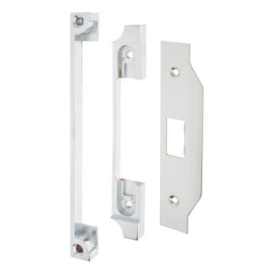 A-Spec 12mm Rebate Kit for Mortice Nightlatch - Brushed Stainless