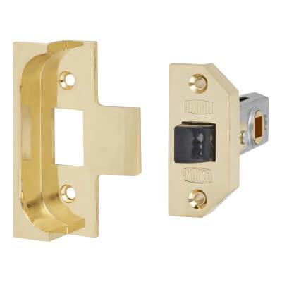 UNION® 2650 Rebated Tubular Latch - 64mm Case - 44mm Backset - Electro Brass
