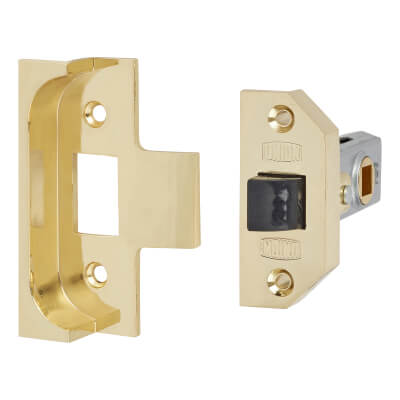 UNION® 2650 Rebated Tubular Latch - 64mm Case - 44mm Backset - Electro Brass