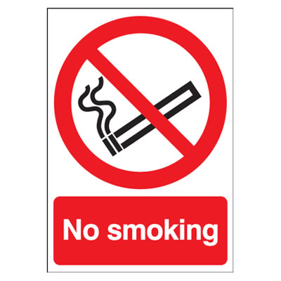 No Smoking - 210 x 148mm - Self Adhesive Plastic)