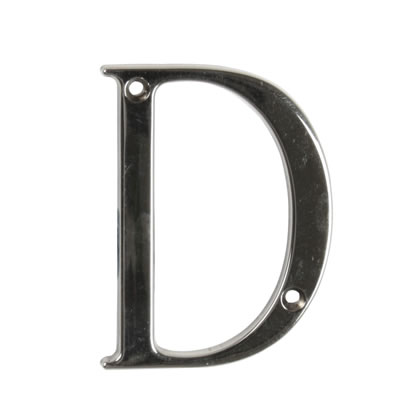 76mm Letter - D - Bright Bronze