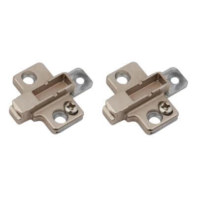 Blum CLIP Cruciform Mounting Plate - Screw On - 3mm Spacing -  Zinc Diecast - Pair