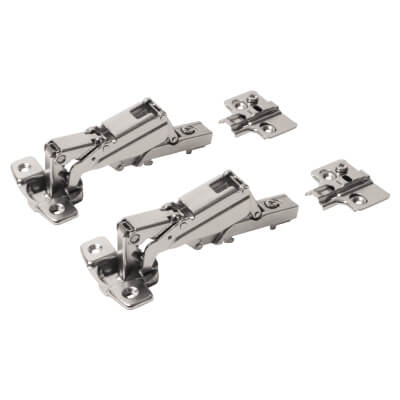 Motion Clip-On Cabinet Hinge - 165° - Overlay - Pair