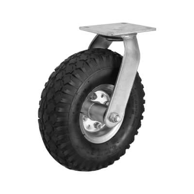 Coldene Rough Terrain Castor - Swivel - 135kg Maximum Weight - Black