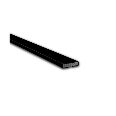 Fire Only Intumescent Strip - 10 x 4 x 2100mm - Plain - Black - Pack 10)