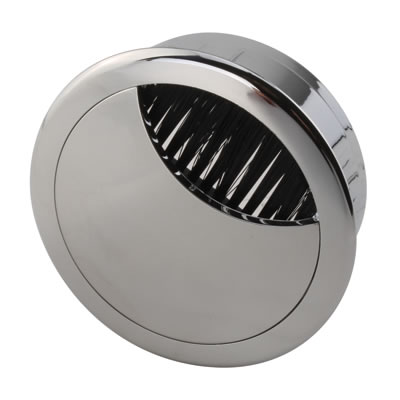 ION Mirror Effect Round Cable Tidy - 60mm - Chrome)