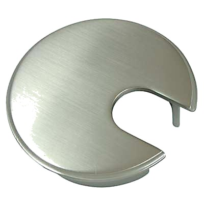 Metal Cable Tidy - 62mm - Satin Nickel)
