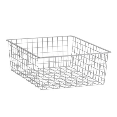 elfa® Medium Storage Basket - 527 x 427 x 185mm - Platinum