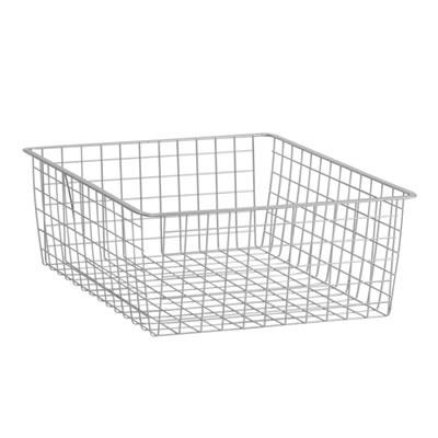 elfa® Medium Storage Basket - 527 x 427 x 185mm - Platinum