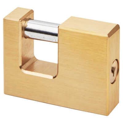 Solid Brass Shutter Lock - 60mm - Keyed to Differ
