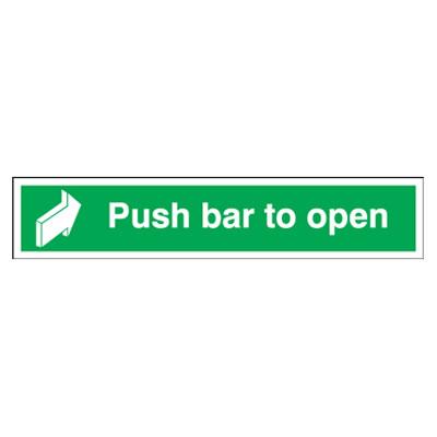 Push Bar To Open - 75 x 600mm - Rigid Plastic