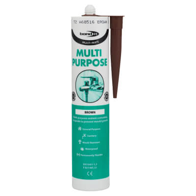 Bond It Multi-Mate Multi-Purpose Silicone - 310ml - Brown