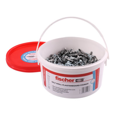 Fischer Self Drill Plasterboard Fixings with Screws - Pack 300)