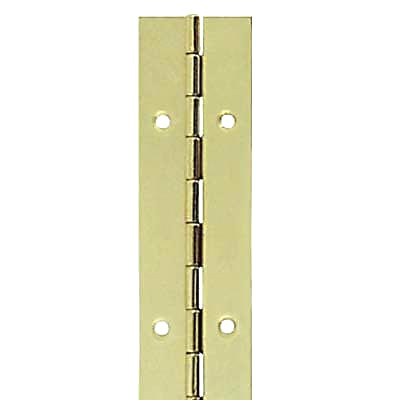 Steel Piano Hinge - 1800 x 38 x 0.7mm - Brass Plated