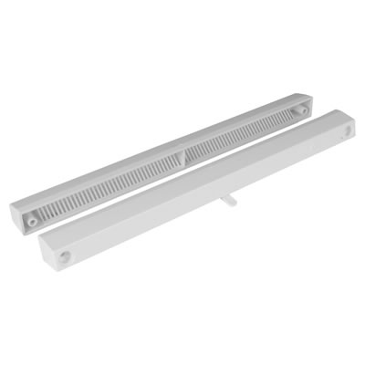 Slotvent 3000 S With Bottom Operation Switch - White - uPVC / Timber)
