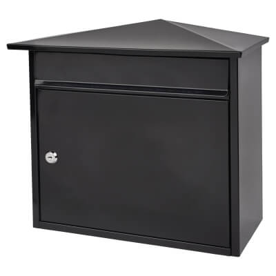 Mersey Mailbox - 359 x 349 x 206mm - Black)