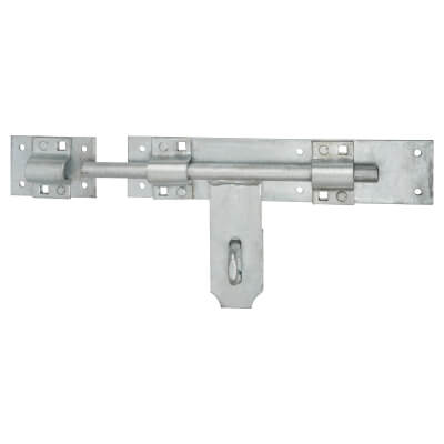 Heavy Duty Padlock Bolt - 300mm - Galvanised Steel)