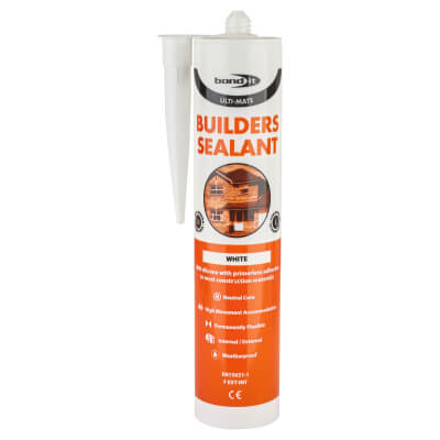 Bond It Ulti-Mate Builders' Silicone - 310ml - White)