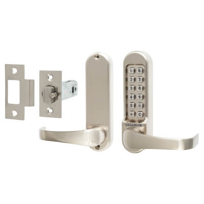 Codelocks 515 Mechanical Lock - Code Free Option - Stainless Steel)
