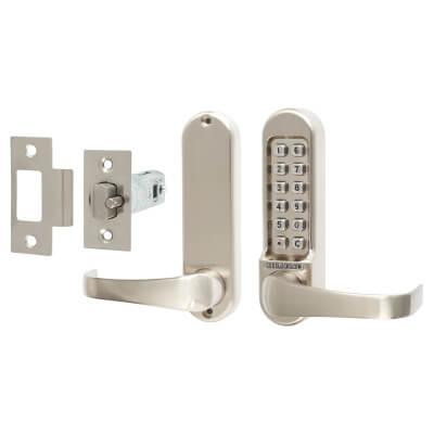 Codelocks 515 Mechanical Lock - Code Free Option - Stainless Steel
