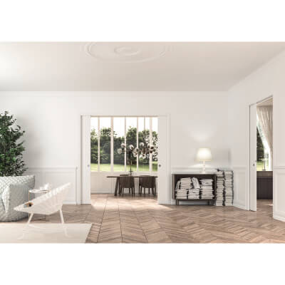Eclisse Double Pocket Door Kit - 100mm Finished Wall - 726+726 x 2040mm Door Size)
