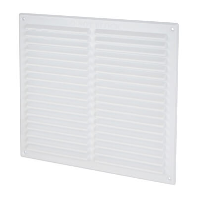 Louvre Vent - 271 x 247mm - 26500mm2 Free Air Flow - White Plastic)