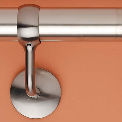 Easi-Rail 40mm Handrail System - Wall Bracket - Polished Chrome)