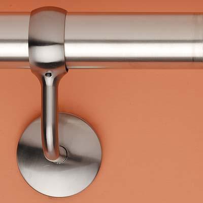 Easi-Rail 40mm Handrail System - Wall Bracket - Polished Chrome)