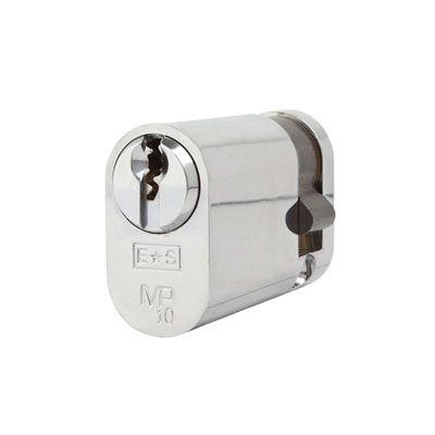 Eurospec MP10 - Oval Single Cylinder - 35 + 10mm - Polished Chrome  - Keyed Alike
