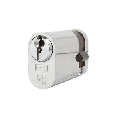 Eurospec MP10 - Oval Single Cylinder - 35 + 10mm - Polished Chrome  - Keyed to Differ
