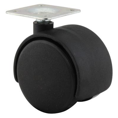 ION Mini Twin Wheel Castor - No Brake - 50mm Wheel Diameter - Pack 4