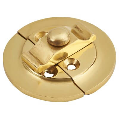 Round Butterfly Catch - 38mm - Polished Brass