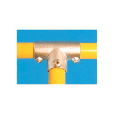 Tee Connector - Long - Galvanised)