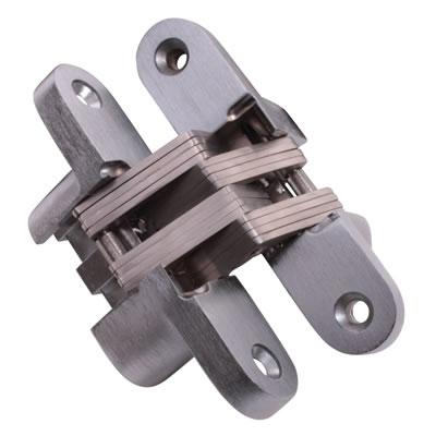 Tago Concealed Hinge - 70 x 16mm - Satin Chrome - Pair