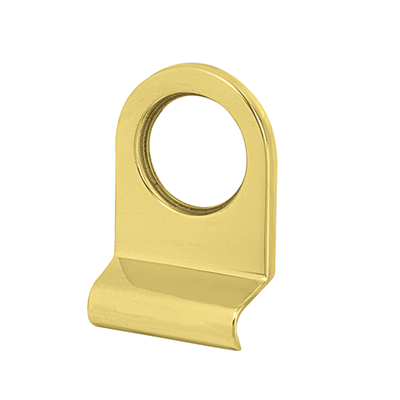 Victorian Plain Edge Cylinder Pull - 70 x 47mm - Polished Brass