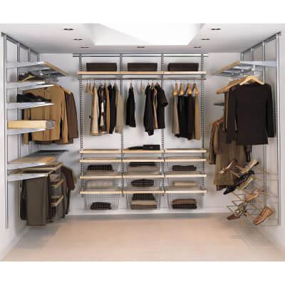 elfa® Wardrobe Kit 12 - Platinum)