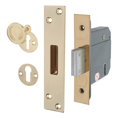 Arrone® BS3621 Deadlock - 76mm Case - 57mm Backset - Polished Brass)