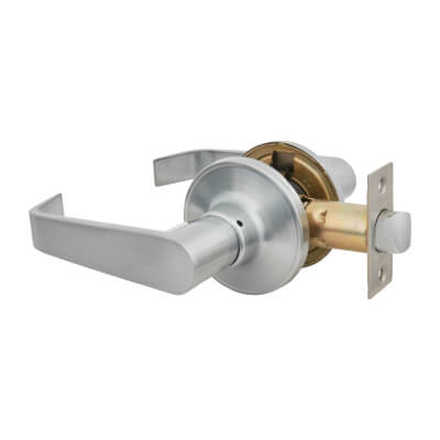 Touchpoint Hotel Door Lever Set - Passage - Satin Chrome)