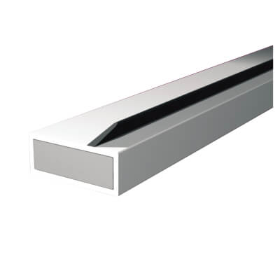 Pyroplex Single Offset Flipper Intumescent Strip - 10 x 4 x 2100mm - White - Pack 10)