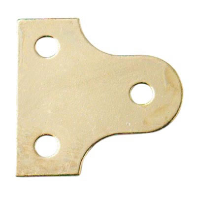 Glass Plate - 19mm - Brass Plated - Pack 10