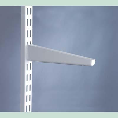 elfa® Shelf Bracket for Solid Shelving - 220mm - White)