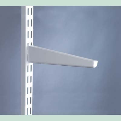 elfa® Shelf Bracket for Solid Shelving - 220mm - White)