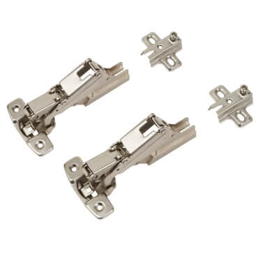 Motion Clip-On Cabinet Hinge - 165° - Inset - Pair
