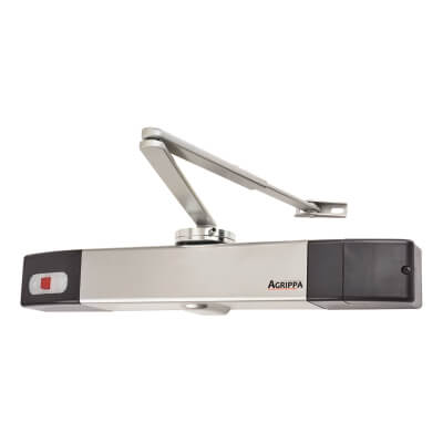 Agrippa Acoustic Fire Door Closer - Silver)