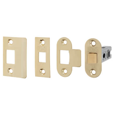 Project Bolt Through Tubular Latch - 67mm Case - 46mm Backset - Electro Brass