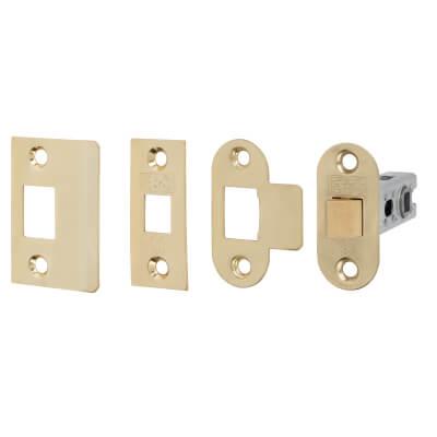 Project Bolt Through Tubular Latch - 67mm Case - 46mm Backset - Electro Brass