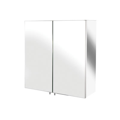 Croydex Avon Stainless Steel Cabinet - Double Door - 440 x 430 x 160mm)
